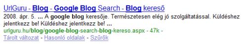 Google blog: UrlGuru